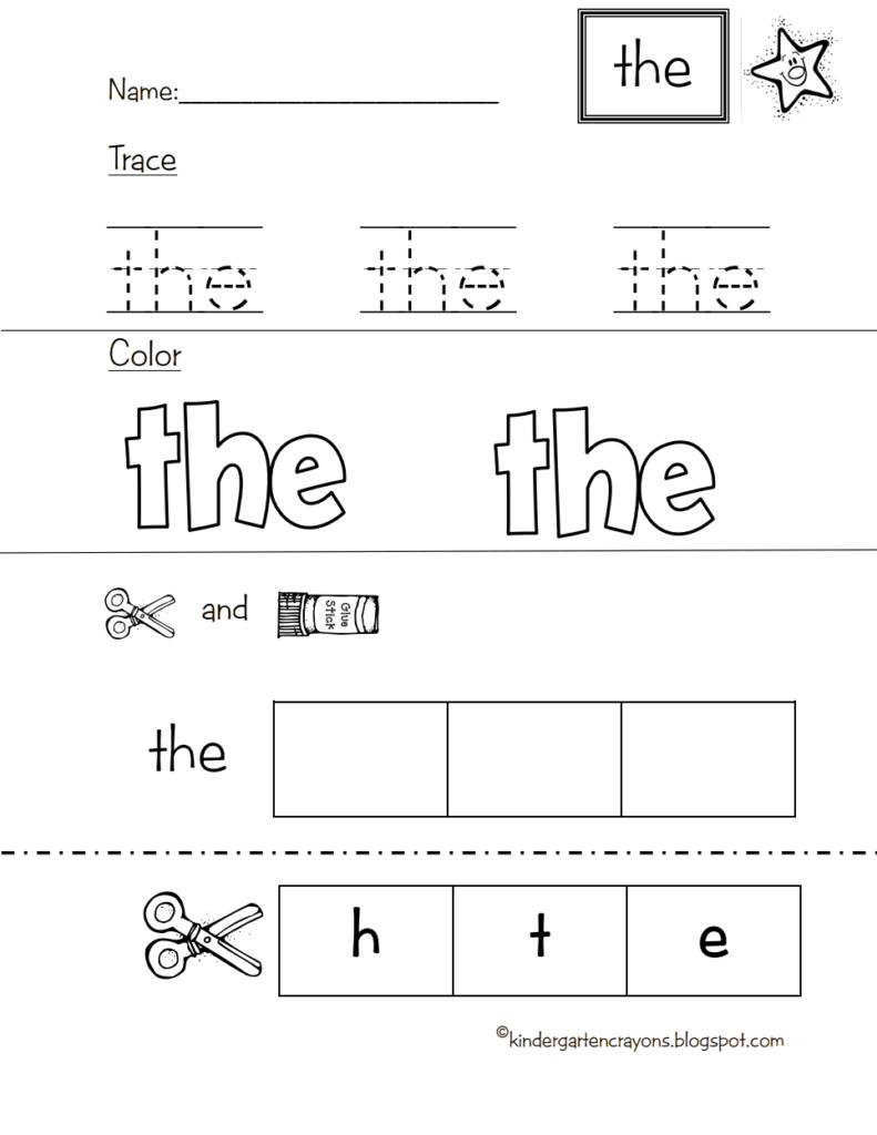 Star Word The.pdf   Google Drive | Sight Words Kindergarten