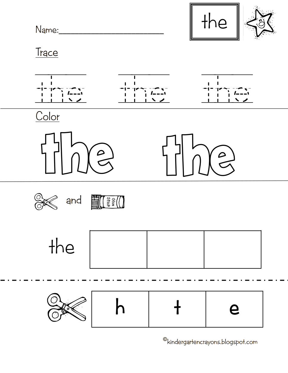 Star Word The.pdf - Google Drive | Sight Words Kindergarten