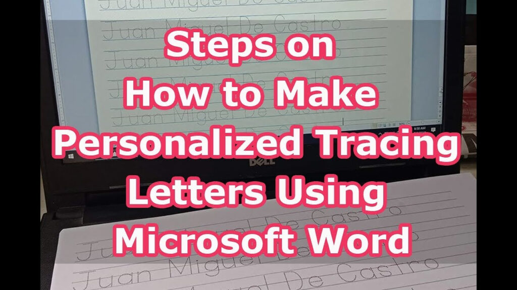 Steps On How To Make Personalized Tracing Letters Using Microsoft Word Regarding Name Tracing Letters