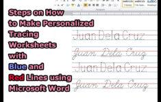Make A Name Tracing Sheet