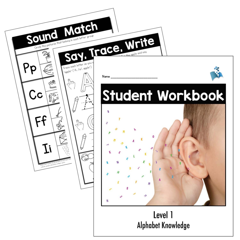Student Workbook Level 1 - Alphabet Knowledge for Alphabet Tracing Level 1