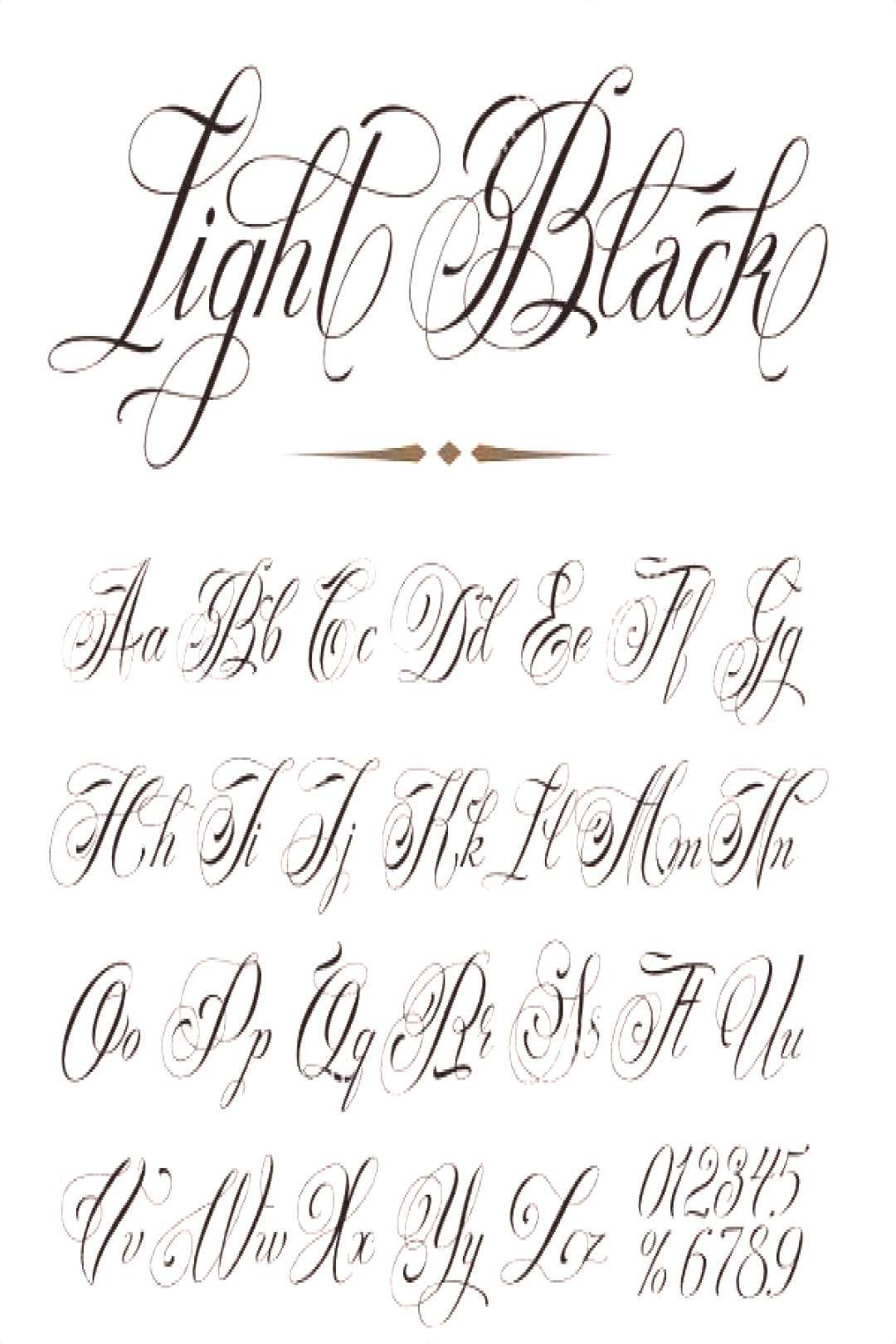 Stylized Cursive Letters Tattoo Designs Cursive Handwriting