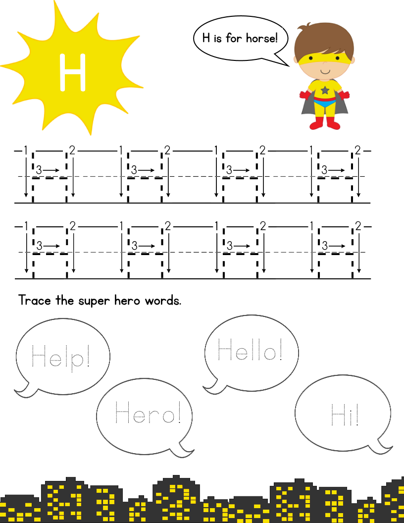 Super Hero Letter Tracing Pack: Upper Case – Mary Martha Mama