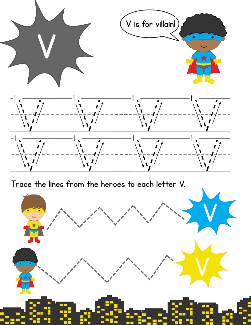 Super Hero Letter Tracing Pack: Upper Case | Tracing Letters