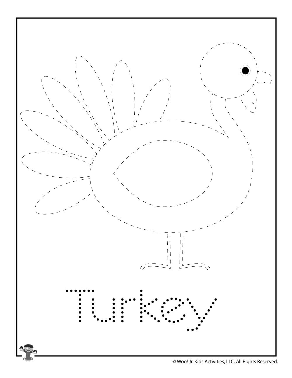 T Is For Turkey Word Tracing | Woo! Jr. Kids Activities