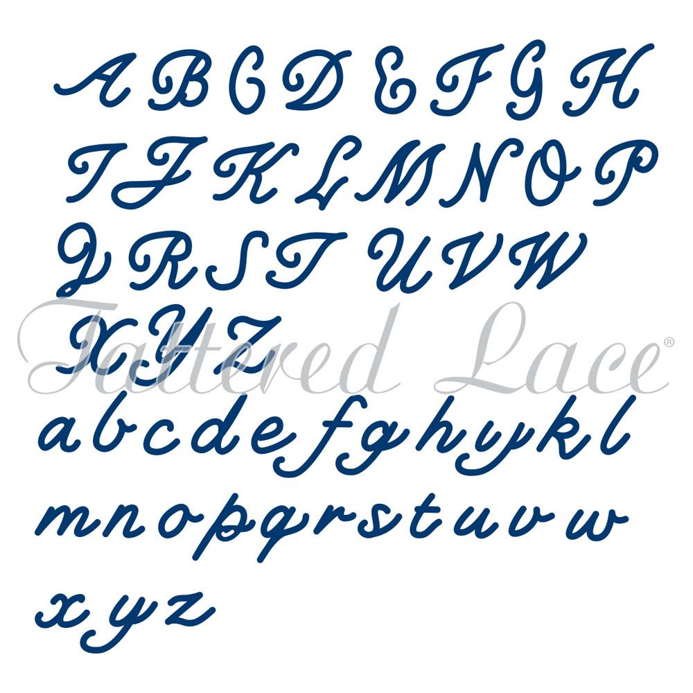 Tattered Lace - Dies - Essentials Small Cursive Alphabet