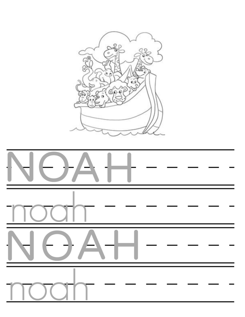 Teach Your Child To Write Their Name In 2020 | Kids Writing Within Name Tracing Noah