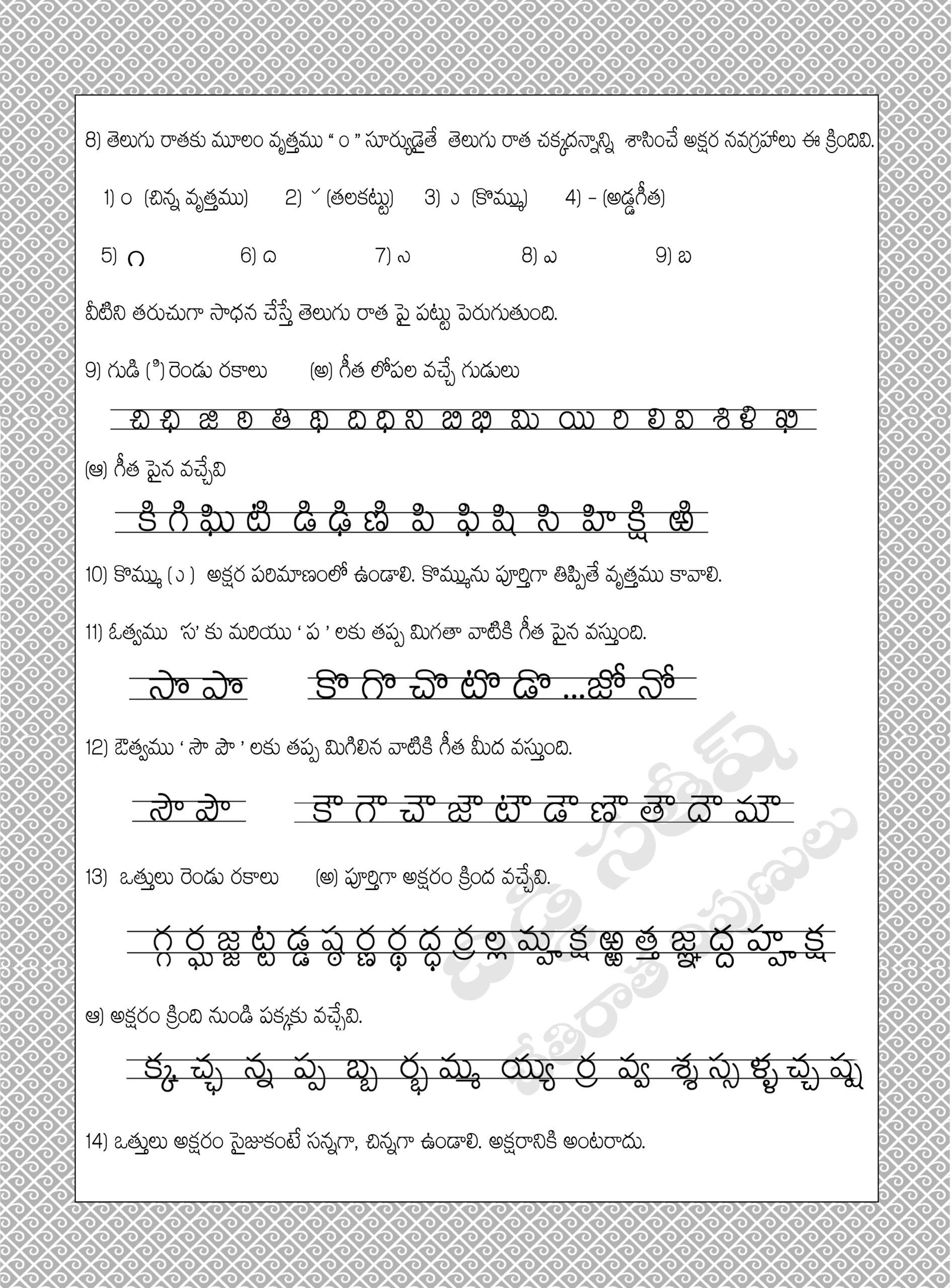 Telugu Worksheets | Kids Activities