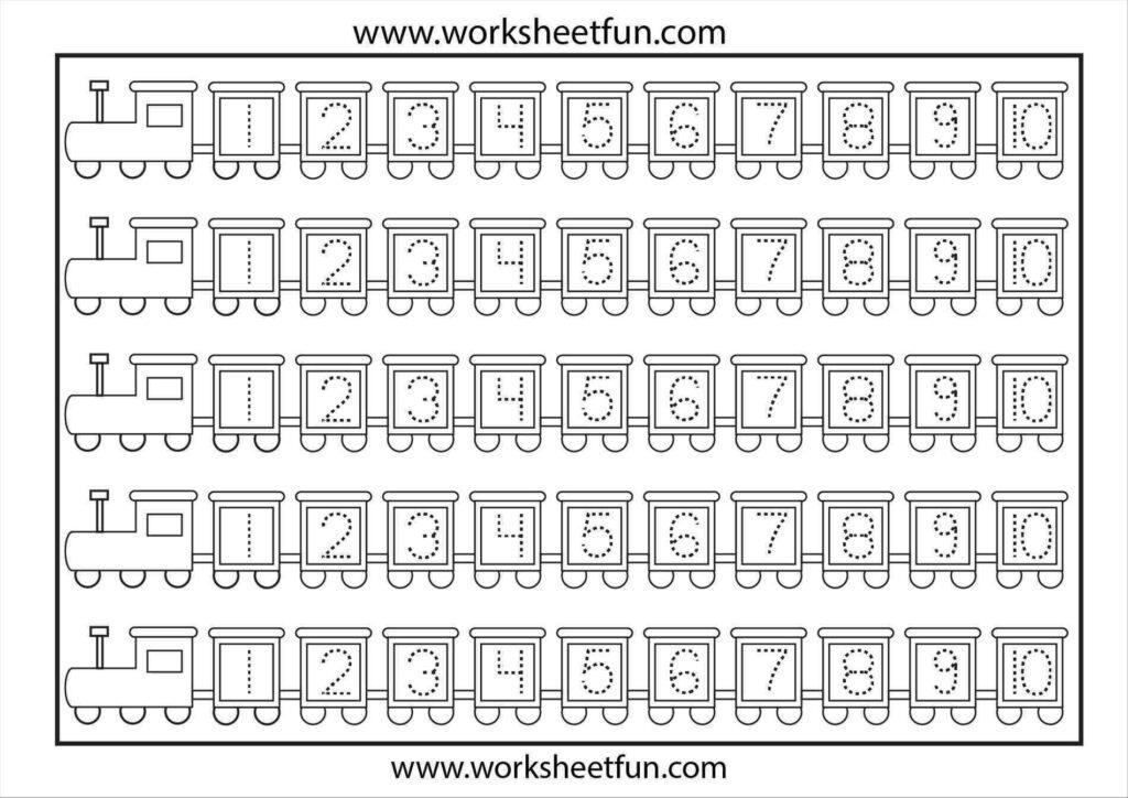Template For Numbers 1 100 | Preschool Number Worksheets