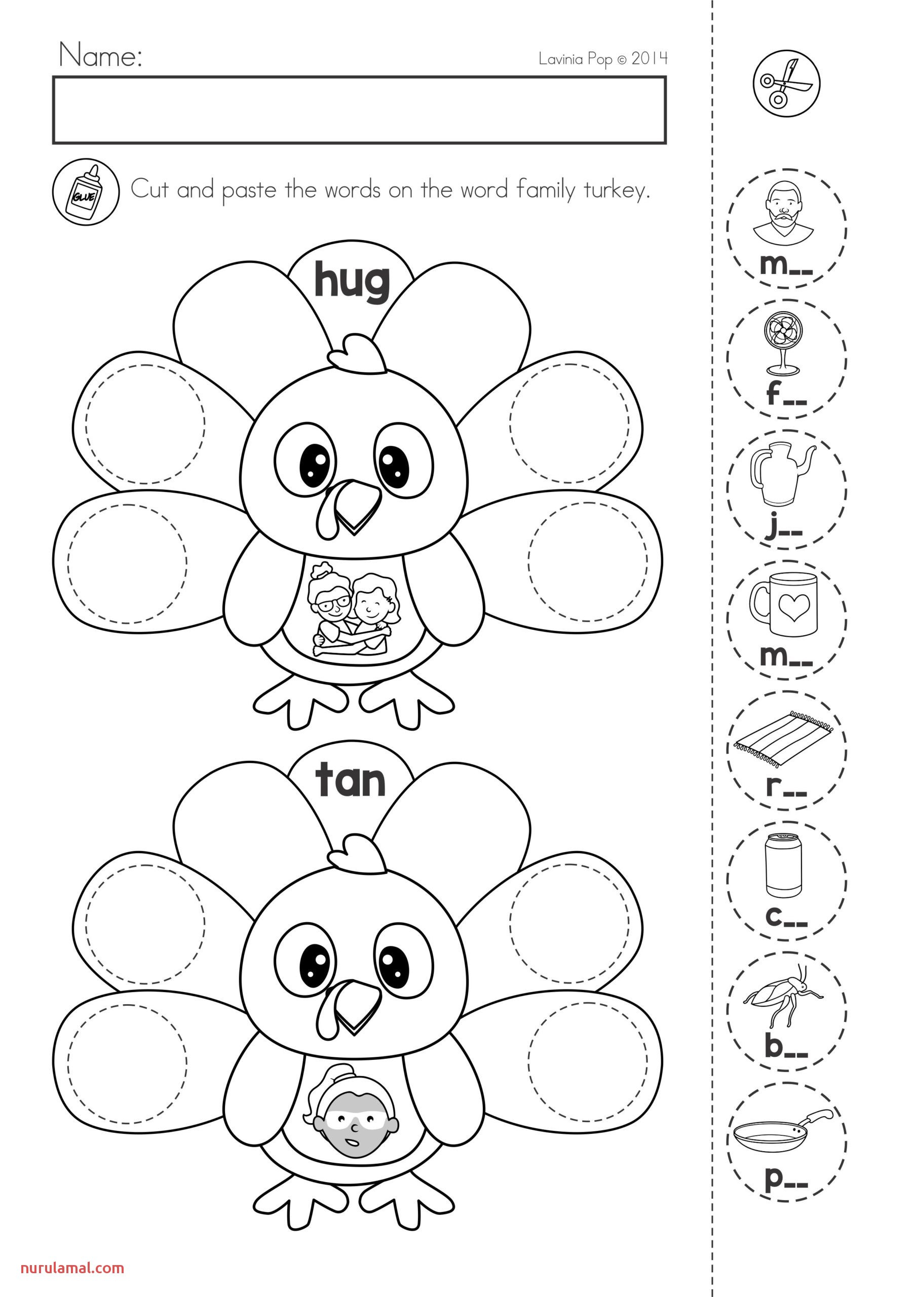 Thanksgiving Preschool Worksheets Tracing Printable Name
