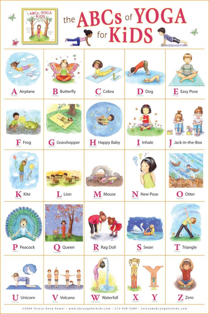 The Abcs Of Yoga For Kids Poster: Teresa Anne Power Inside Alphabet Yoga Exercises