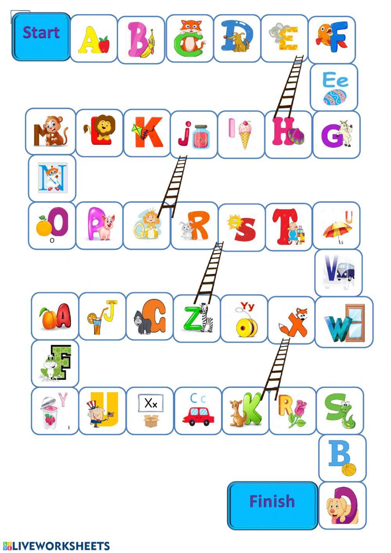 The Alphabet Game - Interactive Worksheet intended for Alphabet Game Worksheets