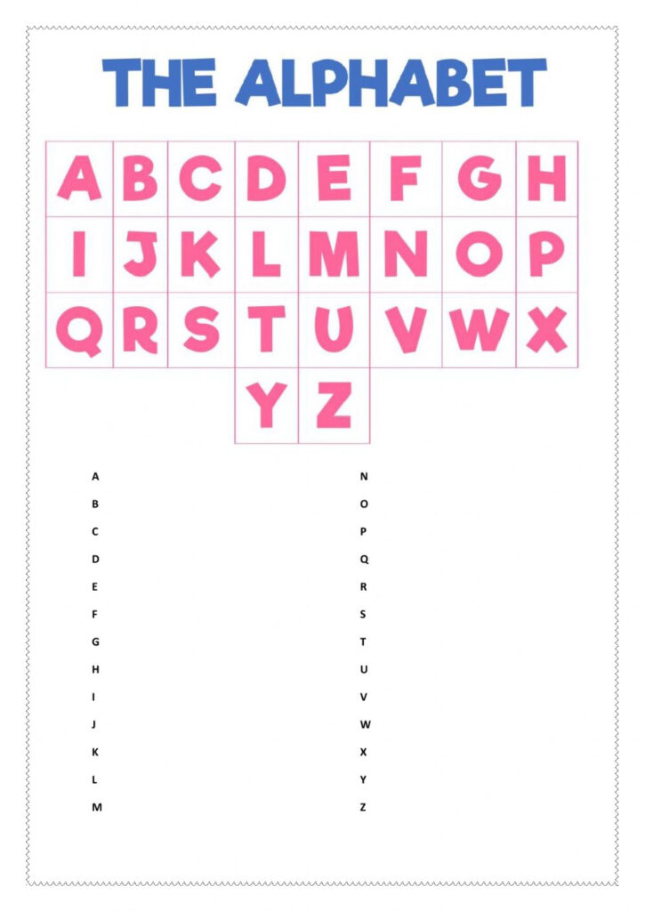 The Alphabet Game   Interactive Worksheet With Alphabet Game Worksheets