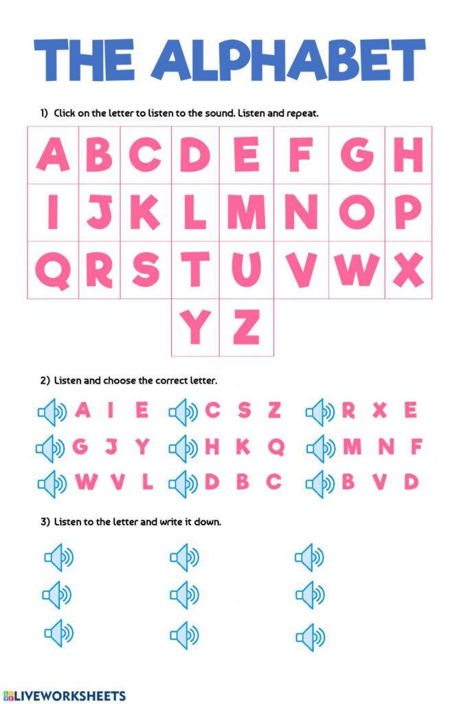 The Alphabet Worksheet Inside Alphabet Worksheets For Esl