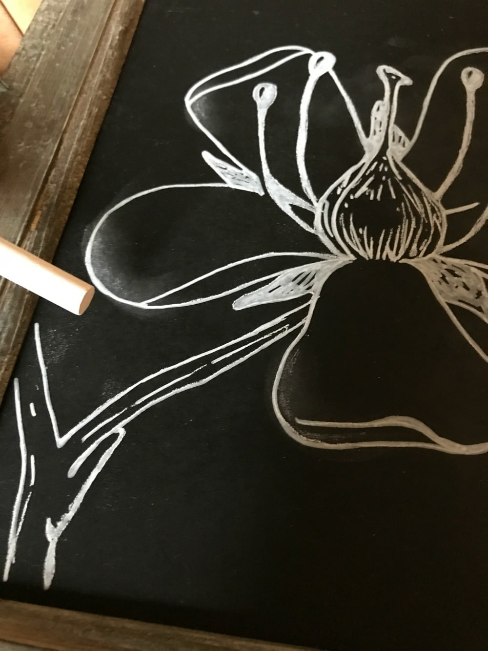 The Easy Trick To Diy Chalkboard Art And Lettering | Good In regarding Name Tracing Chalkboard