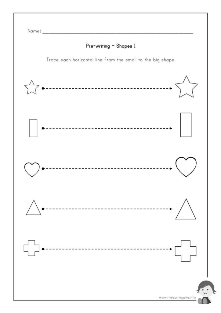 The Learning Site: Pre Writing Worksheets   Shapes   Writing