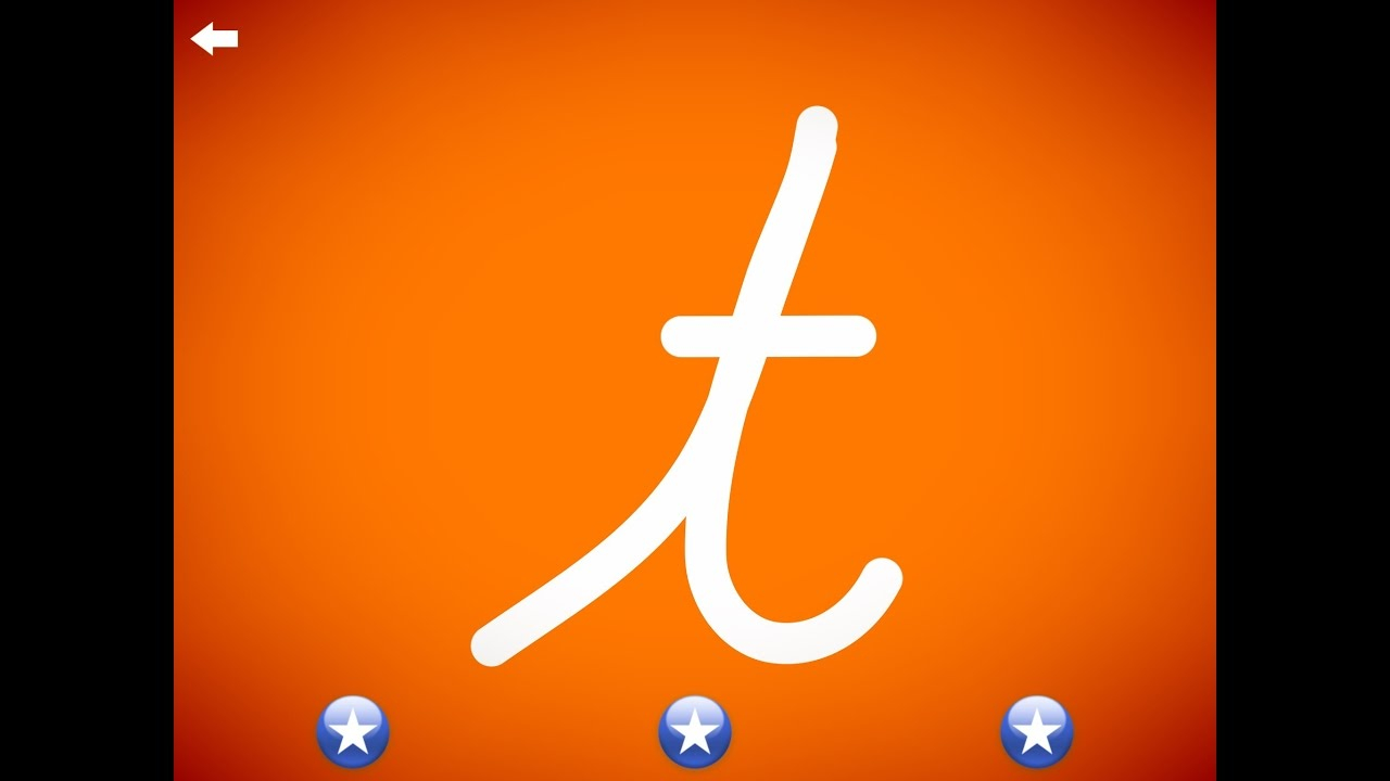 The Letter T - Learn The Alphabet And Cursive Writing!