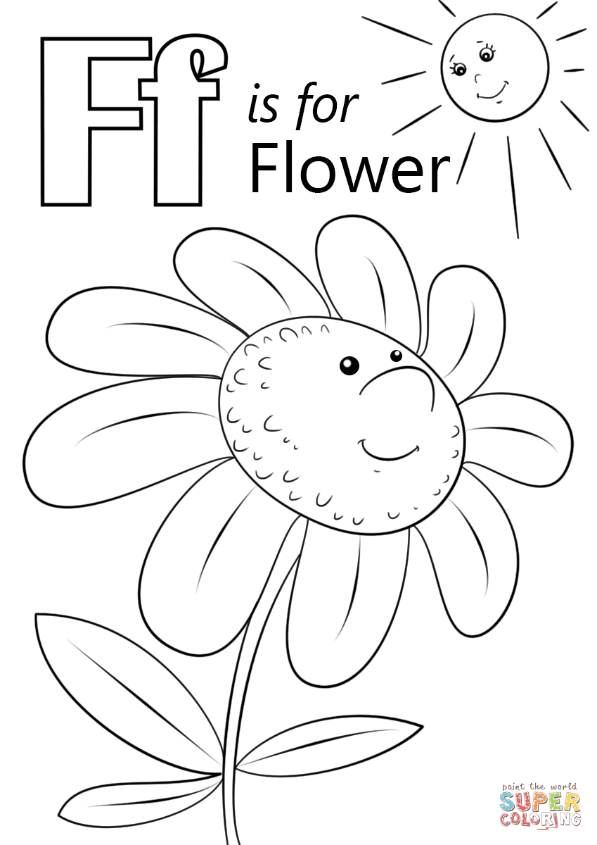 The Letter Worksheets Coloring Page Fox With Printable For regarding Letter F Worksheets Coloring Page