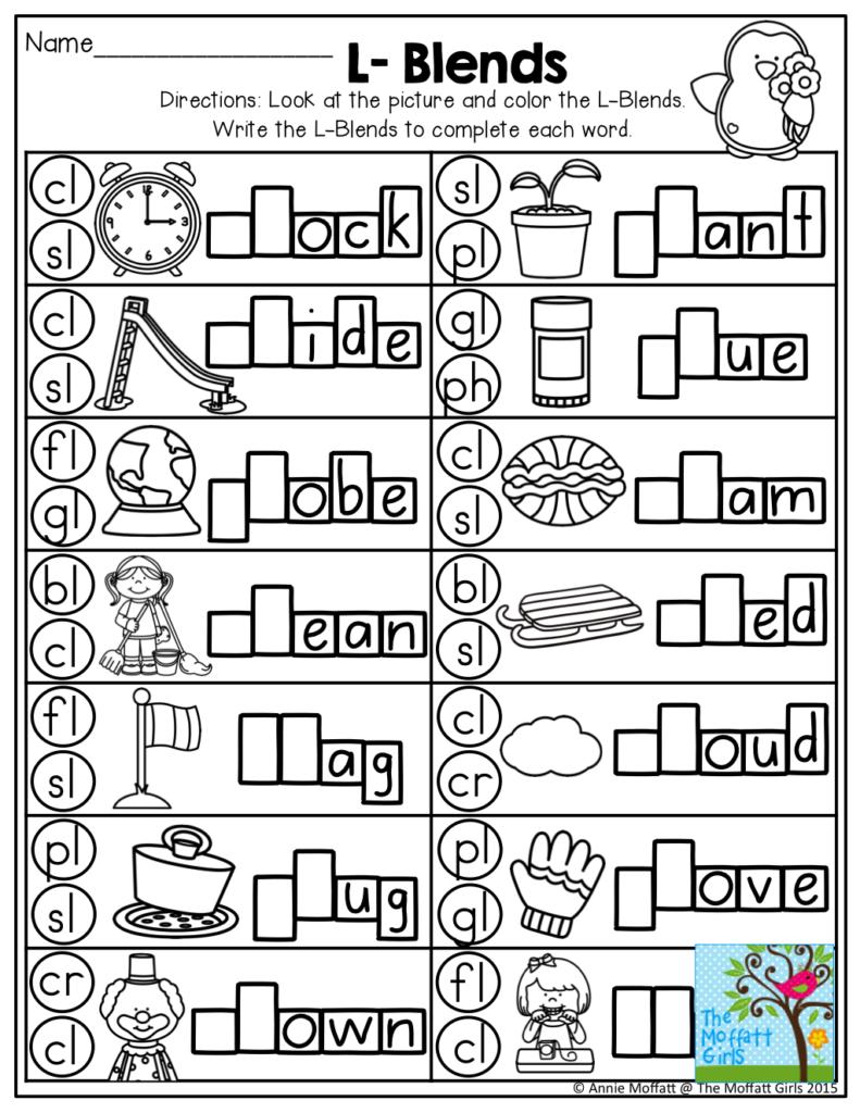 The Moffatt Girls: February No Prep Packets! | Blends Regarding Alphabet Blends Worksheets