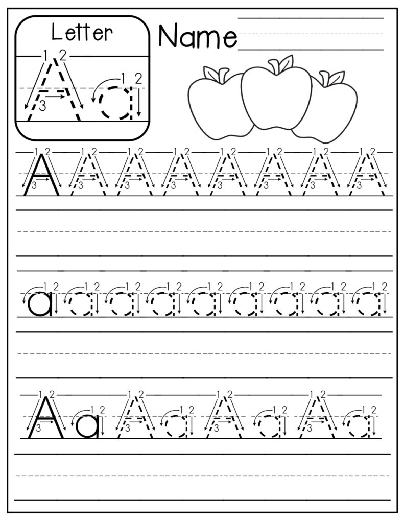 The Moffatt Girls: Freebie: A Z Handwriting Practice Pages With Regard To Name Tracing A Z