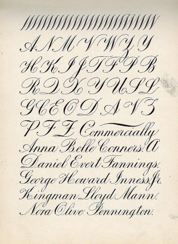 The New Zanerian Alphabetscharles Paxton Zaner, 1900