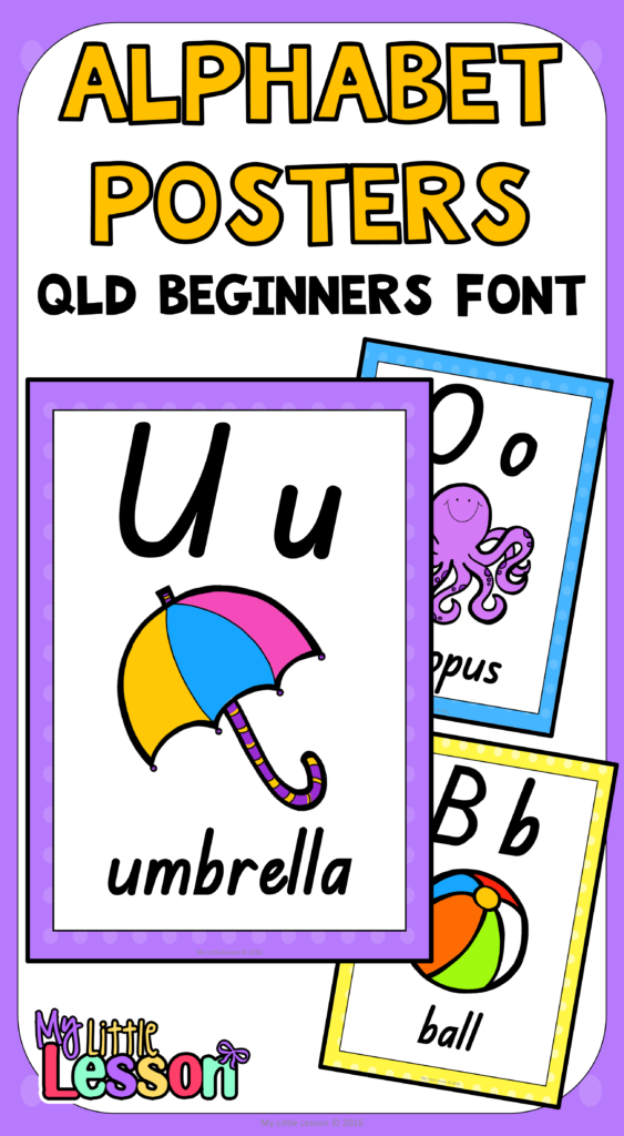 These Alphabet Posters Qld Beginners Font Have Been Created