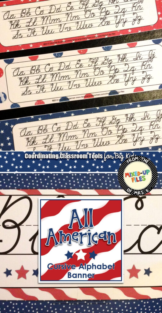 These Printable Cursive Handwriting Alphabet Strips Can Be