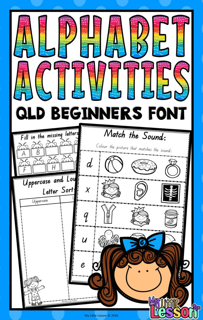This Alphabet Activities Booklet Has Been Created Using The In Alphabet Tracing Sheet Queensland