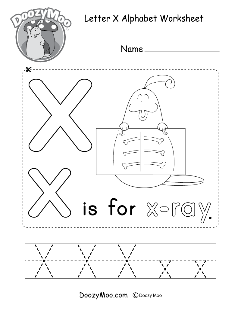 This Free Printable Gives Kids The Opportunity To Learn The for Letter X Worksheets For Preschool