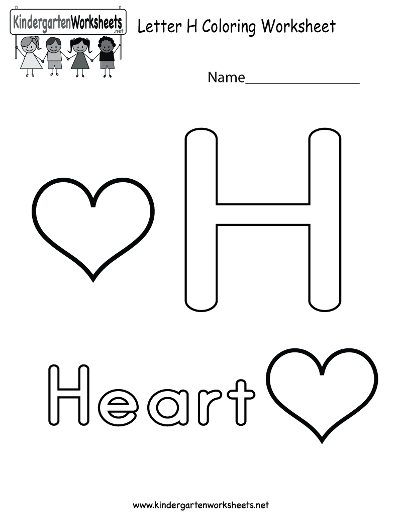 This Is A Cute Letter H Coloring Worksheet. This Would Be A for Letter H Alphabet Worksheets