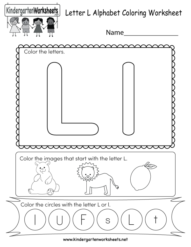 This Is A Cute Letter L Worksheet For Kindergarteners. Kids With Regard To Letter Ll Worksheets For Kindergarten