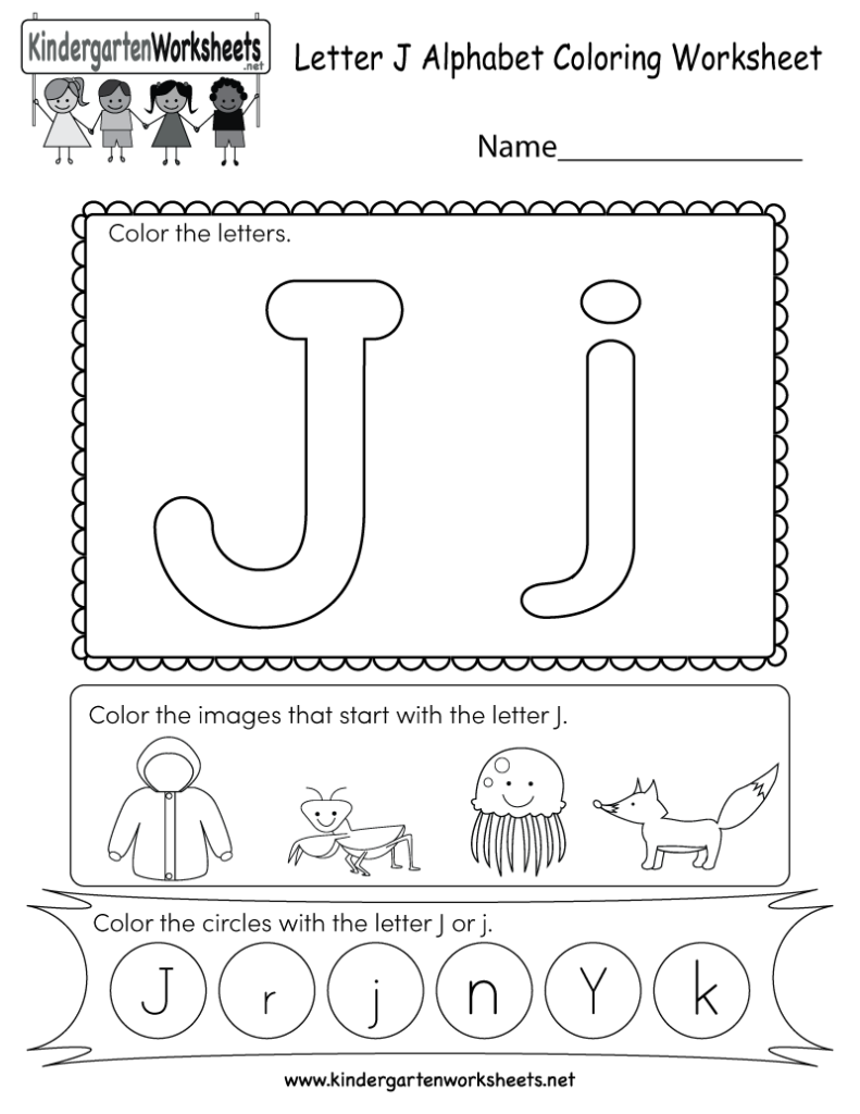 This Is A Fun Letter J Coloring Worksheet. Kids Can Color In Letter J Worksheets Free