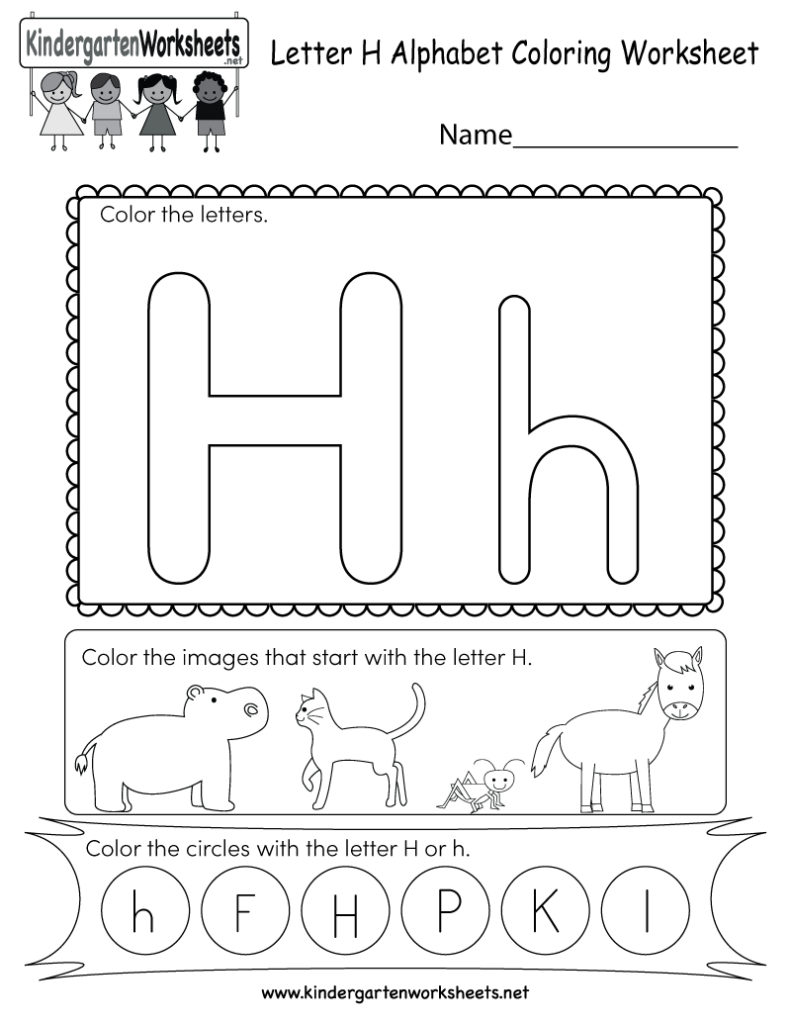 This Is A Letter H Coloring Worksheet. Children Can Color Within Letter H Alphabet Worksheets