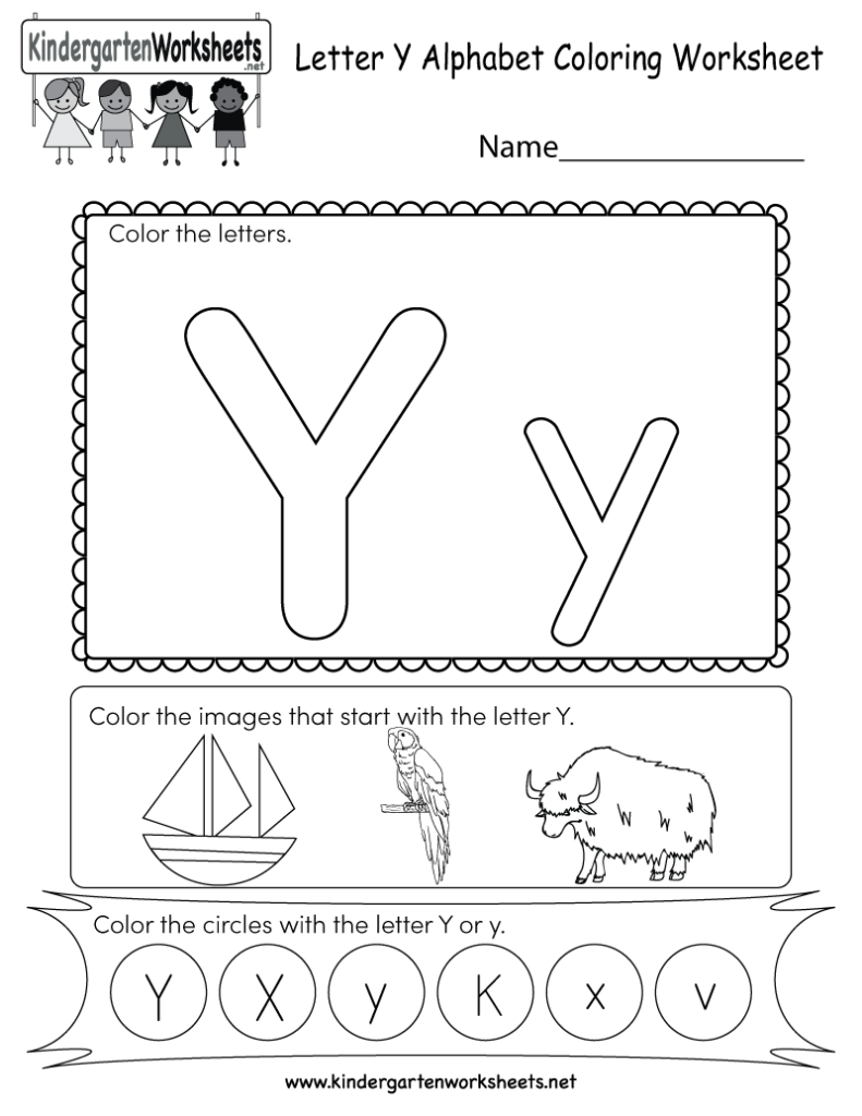 This Is A Letter Y Coloring Worksheet. Children Can Color With Regard To Letter Y Worksheets For Toddlers