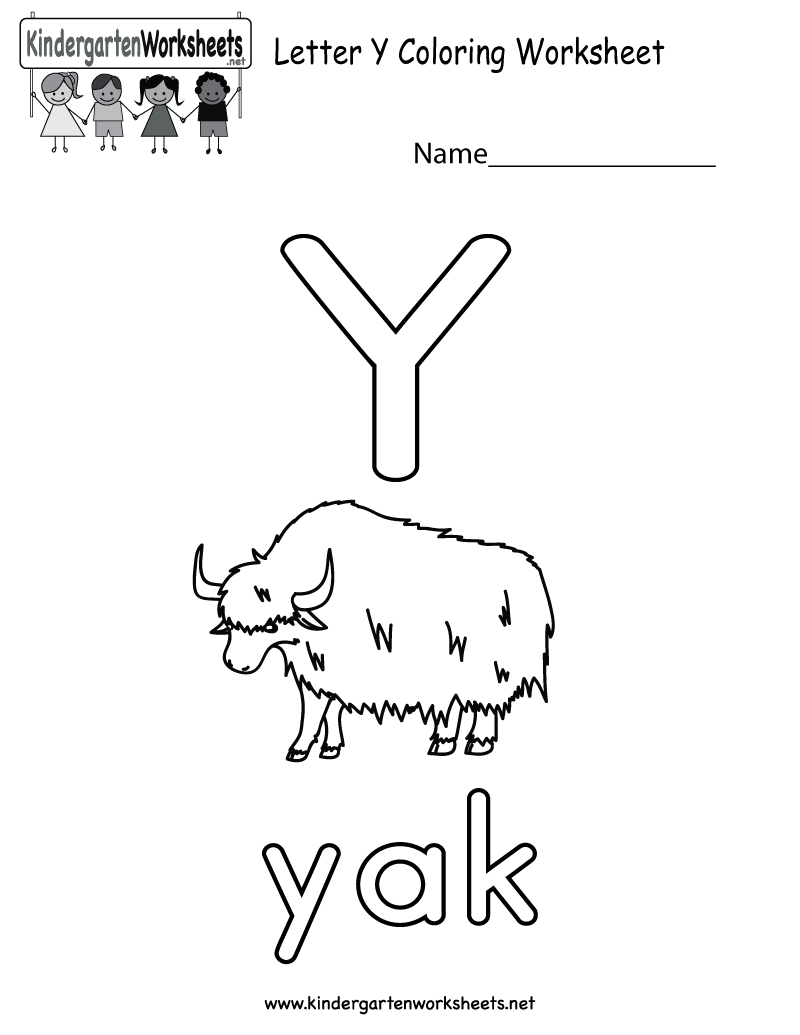 This Is A Letter Y Coloring Worksheet For Preschoolers Or inside Letter Y Worksheets For Toddlers