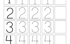 Printable Number Tracing Worksheets For Preschoolers