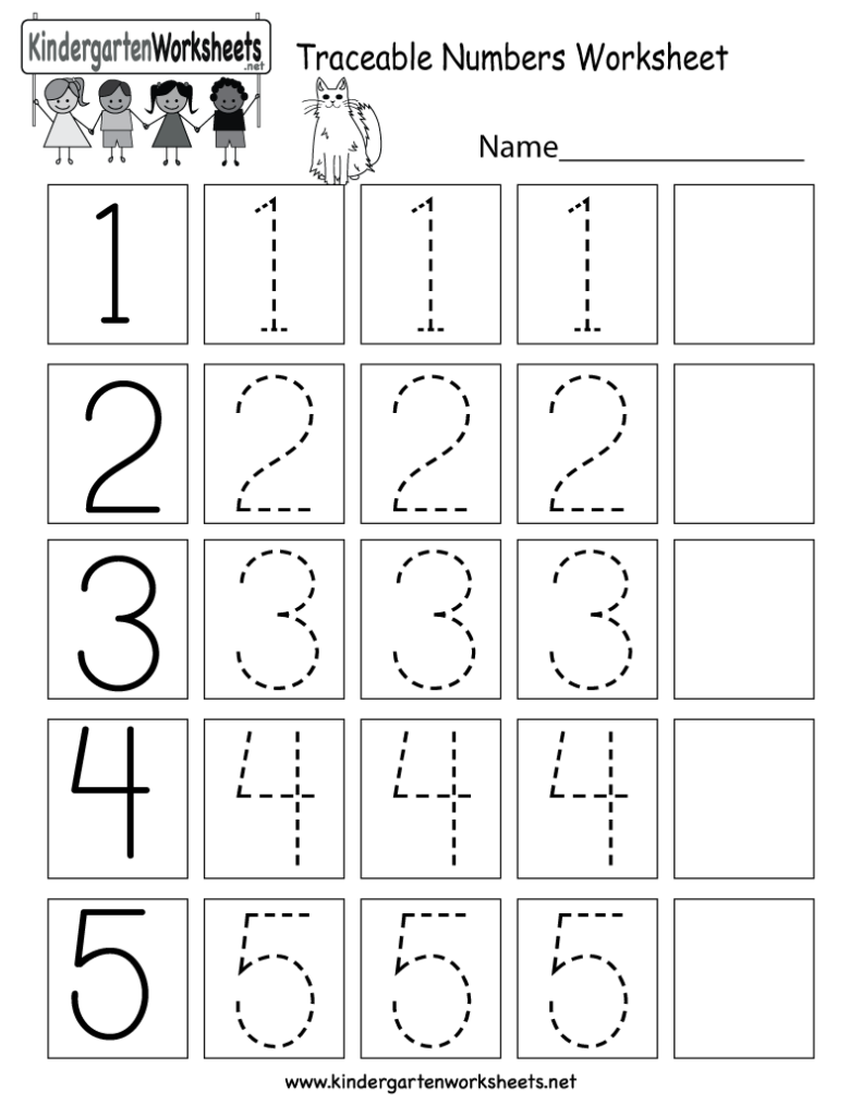 This Is A Numbers Tracing Worksheet For Preschoolers Or