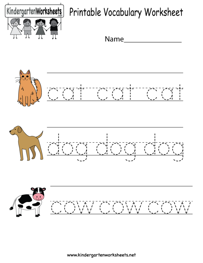 This Is A Vocabulary Worksheet For Kindergarteners. Children
