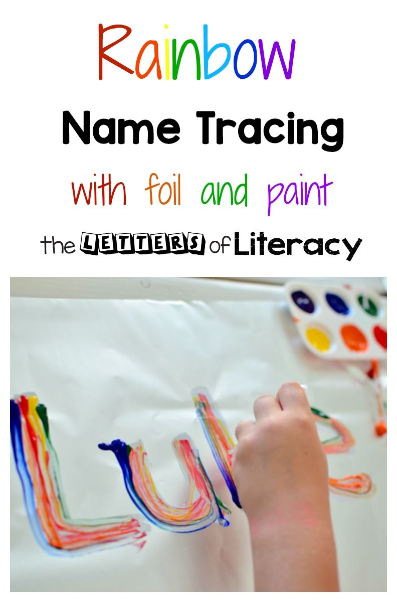 This Name Tracing Art Activity Is The Perfect Way To Work On inside Tracing Your Name