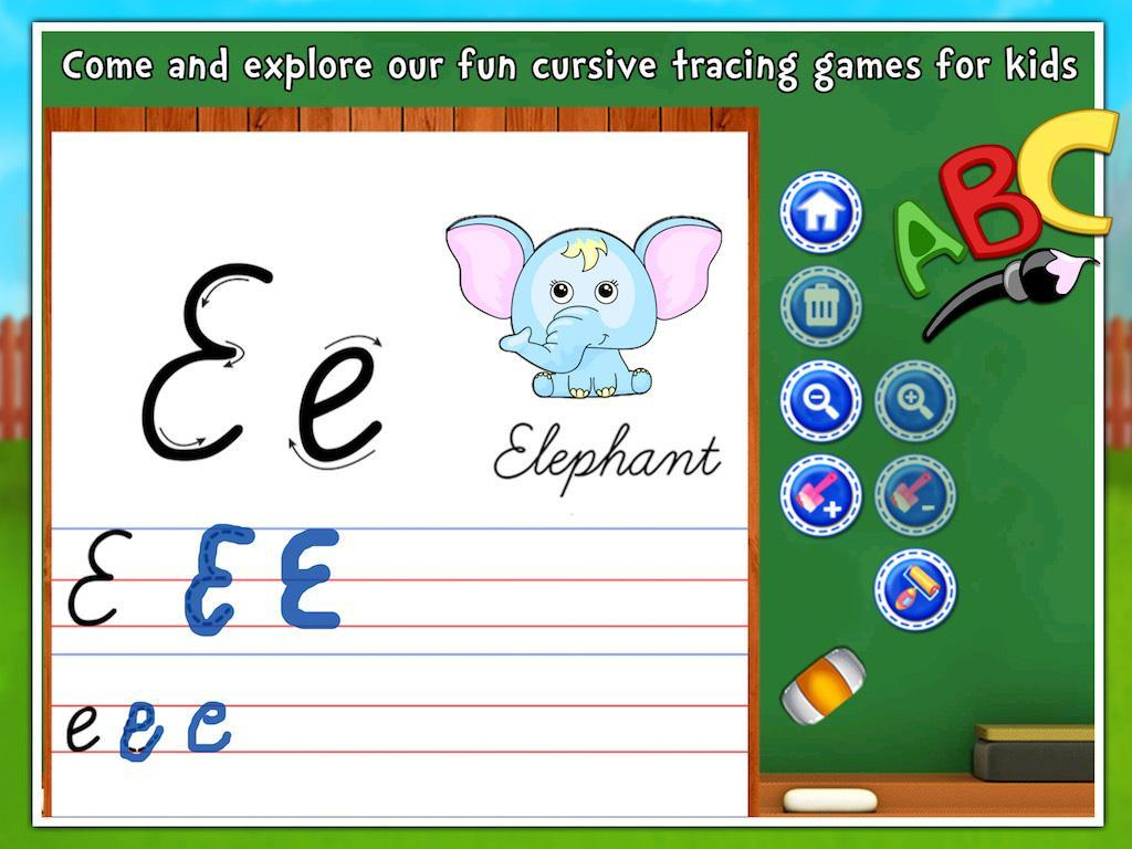 Toddlers Abc Cursive Writing For Android - Apk Download