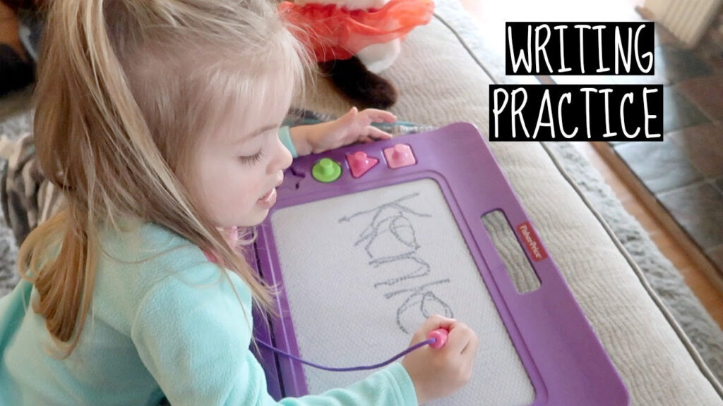 Toddler's First: Tracing Her Name!   Ditl With A Baby & Toddler   Vlog Pertaining To Tracing Her Name