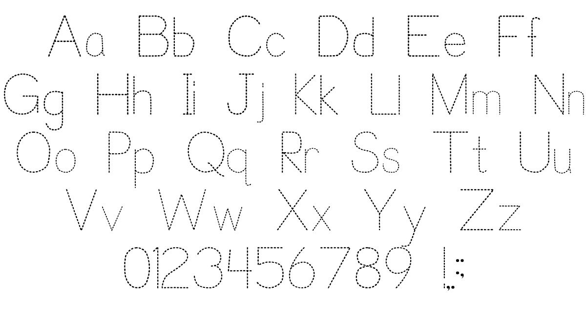 Trace Font For Kids | P. J. Cassel | Fontspace with Name Tracing Font With Lines