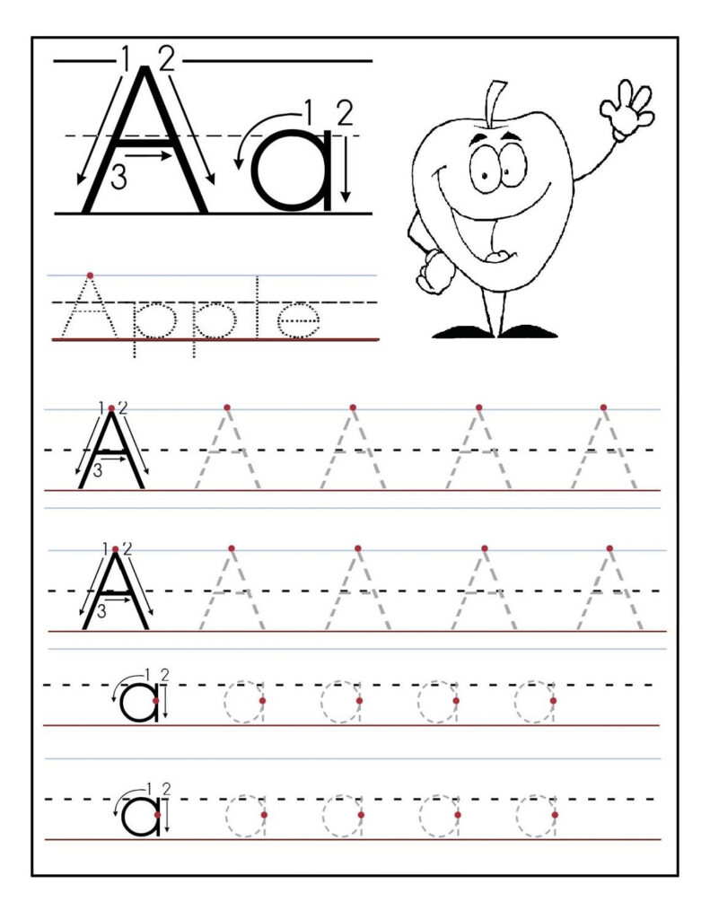 Trace Letter A Sheets To Print   Tracing Worksheets