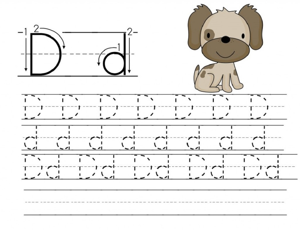 Trace Letter D Worksheets | Activity Shelter within Letter Tracing D