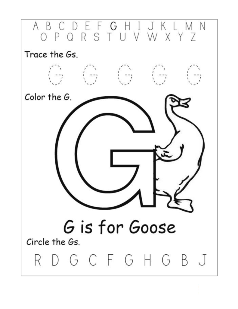 Trace Letter G Worksheets | Activity Shelter With Regard To Letter G Worksheets