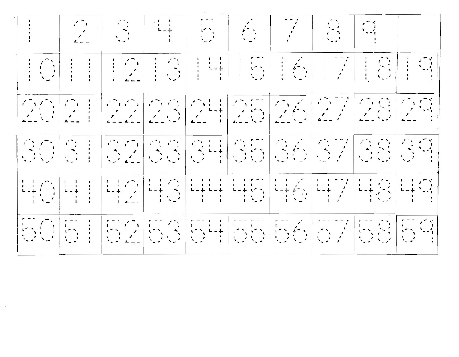Trace Numbers 1 100 Worksheet | Printable Worksheets And