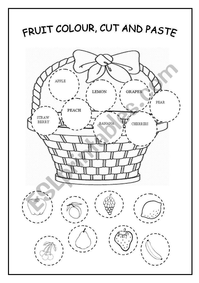 Trace The Fruit Worksheet - Twisty Noodle - Vozeli