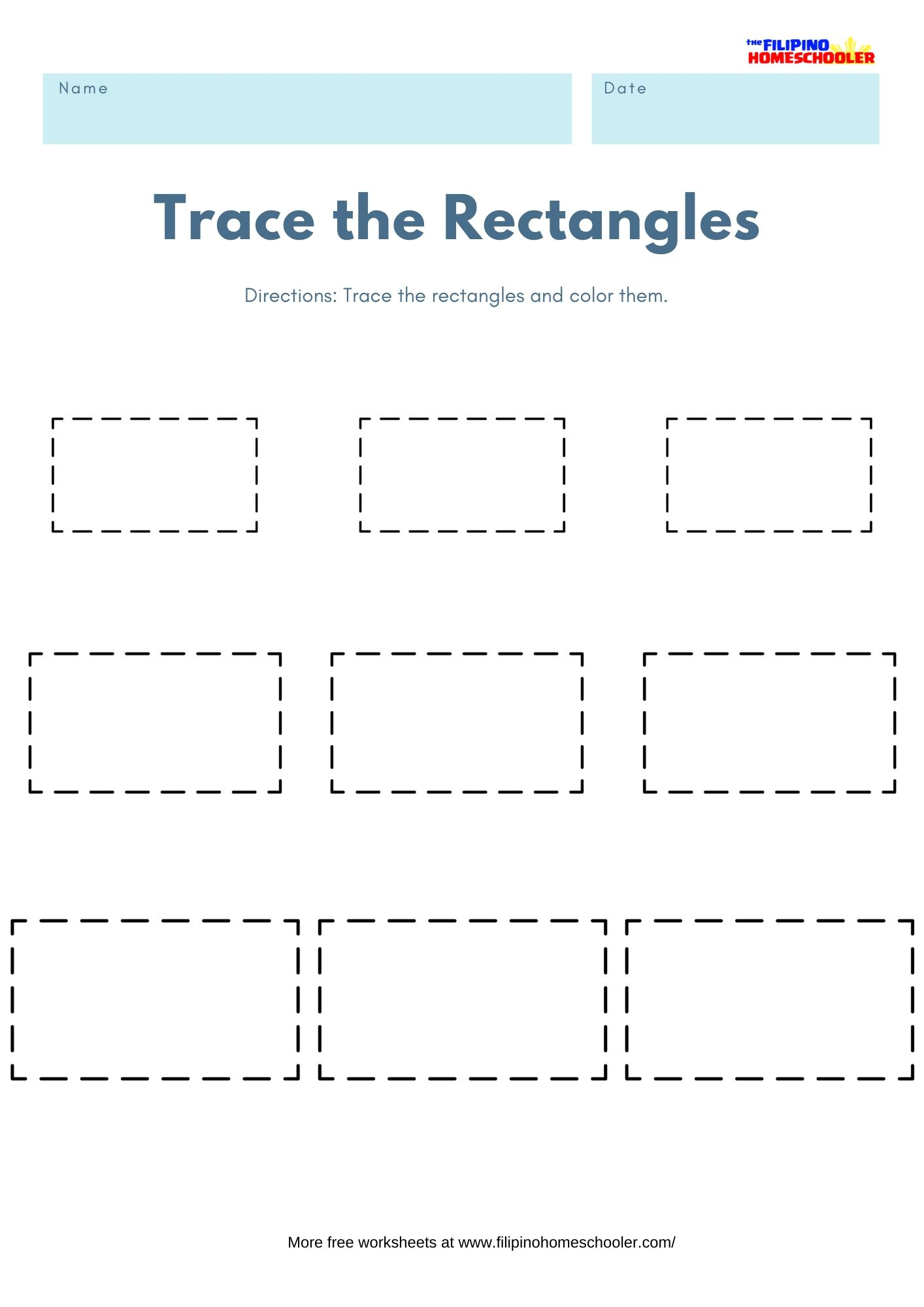 Trace The Shapes Math Worksheets — The Filipino Homeschooler