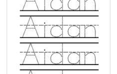 Blank Name Tracing Worksheets