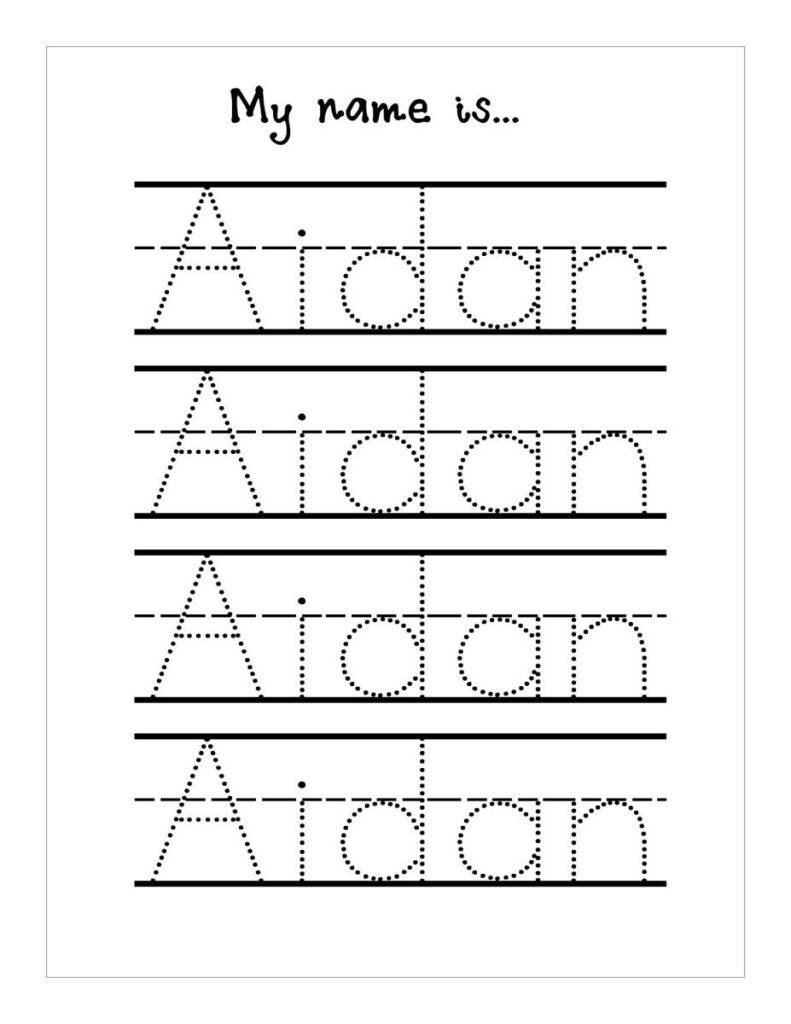 Trace Your Name Worksheets Tracinge Preschool Kindergarten With Regard To Name Tracing Sheets For Kindergarten